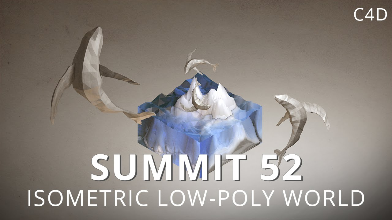 Isometric Low-Poly World in Cinema 4D from Mt. Mograph