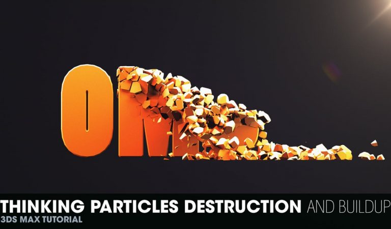 How to Destroy and Build a 3D Text with Thinking Particles in 3ds Max from Johannes Tiner