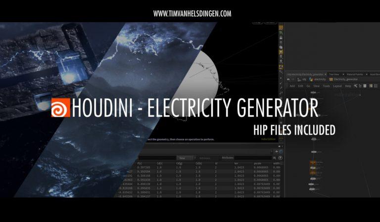 Electricity Generator in Houdini from Tim van Helsdingen