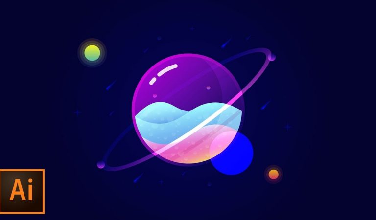 Glass Planet Vector in Illustration from tutvid