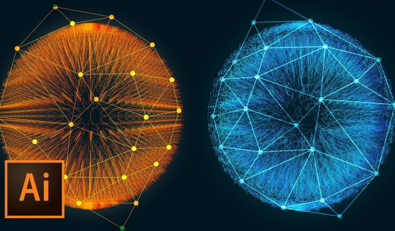 Incredible 3D Dots and Lines Glowing Fiber Effect in Illustrator from tutvid
