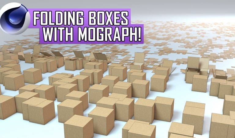 Folding Boxes with MoGraph in Cinema 4D from QuickVFX