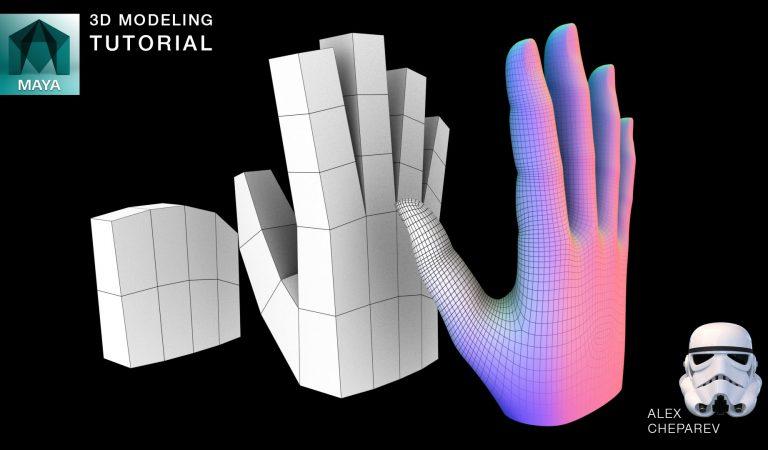 Easy Hand Modeling in Maya from Alex Cheparev