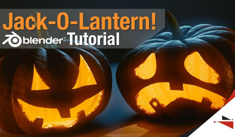 How to Create a Jack-O-Lantern in Blender from 3D Bandyte