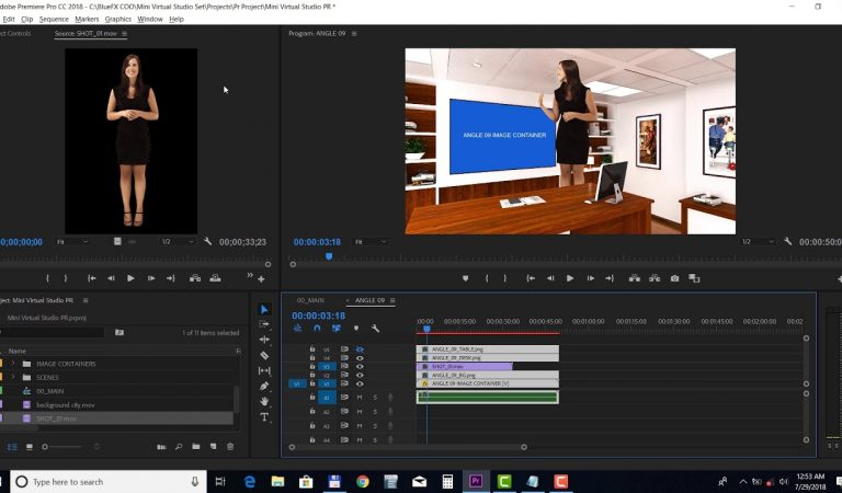 Mini Virtual Studio Set in Premiere Pro from BlueFx