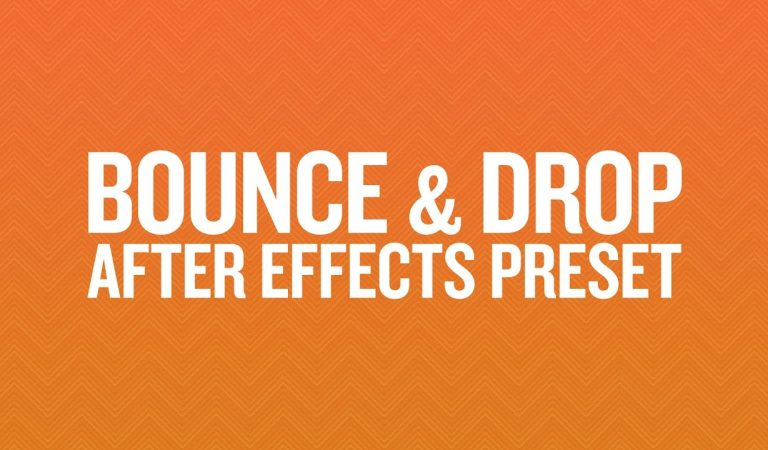 Bounce & Drop Preset in After Effects from Ukramedia
