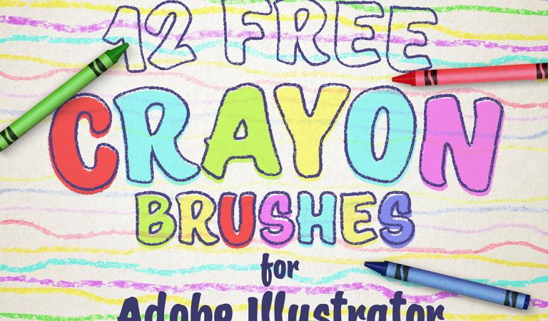 12 Free Wax Crayon Effect Brushes for Adobe Illustrator from Spoon Graphics