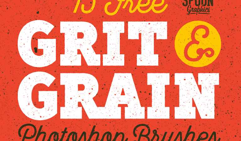 15 Free Grit & Grain Texture Brushes for Adobe Photoshop from Spoon Graphics