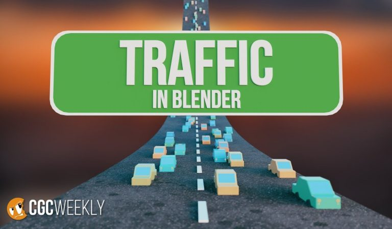 Quick and Easy Traffic Simulations in Blender from CG Cookie
