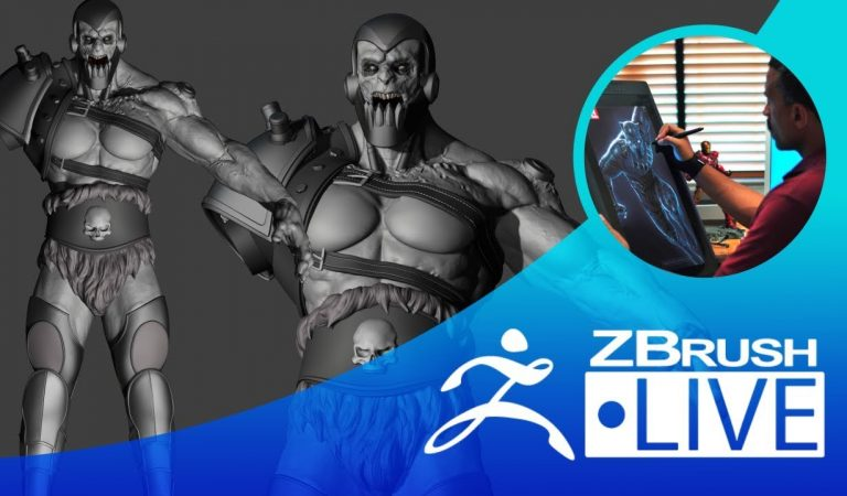 Creating Trap Jaw from He-Man Fan Art in ZBrush from Pixologic