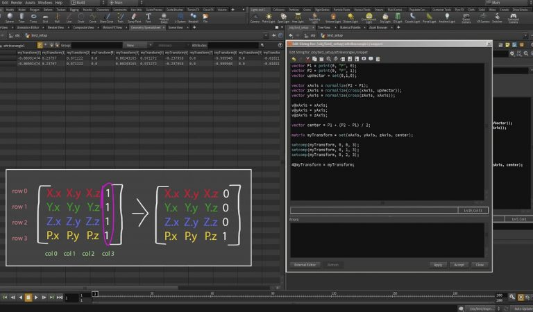 Extracting Transformation Matrix with VEX in Houdini from FX HIVE