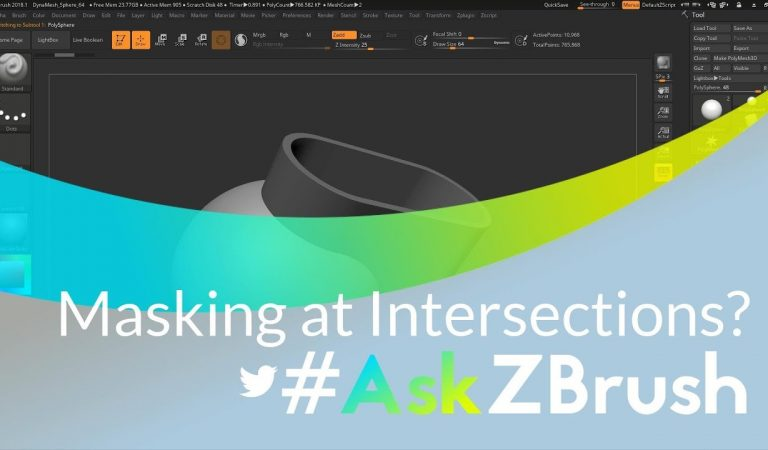 Create A Mask Where Two Objects Intersect in ZBrush from Pixologic