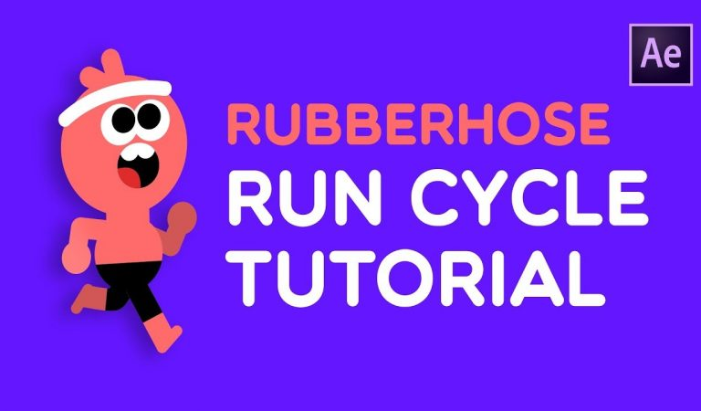 Rubberhose Run Cycle in After Effects from Ross Plaskow