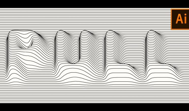 VECTOR Lines DISTORTION Effect in Illustrator from Vector Slate
