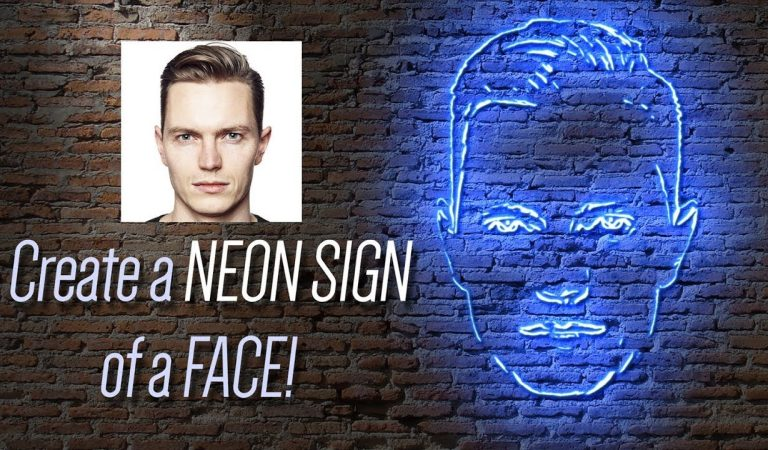 How to Make a NEON Sign of Your Face in Photoshop from Blue Lightning TV