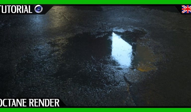 Create Realistic Water Puddles with OctaneRender in Cinema 4D from Motion Designers Community