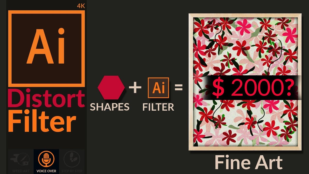 How to Create Wall Decor Artwork with Shapes & Filters in Illustrator from Digital Art Creation
