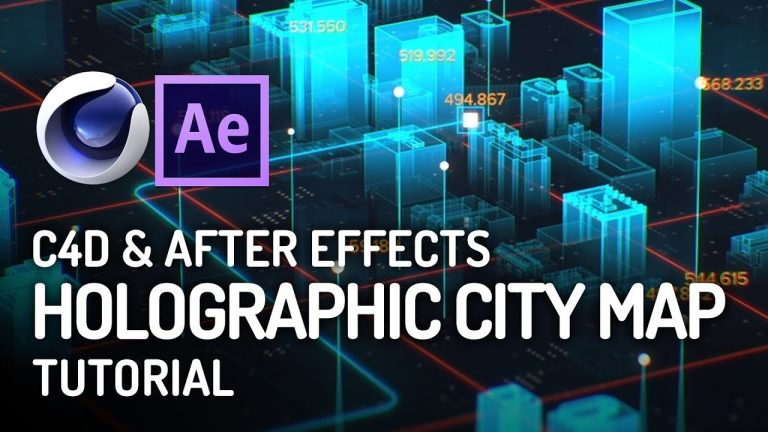 INSANE Holographic City Map Tutorial from Scratch in Cinema 4D & After Effects from VideoFort
