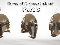 3D Modeling Game of Thrones Valyrian Steel helmet : Part 3 in Maya from Mike Hermes