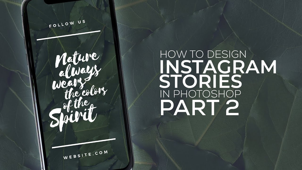 How To Design Instagram Stories in Photoshop from Photoshop Design Tutorials By Tronix