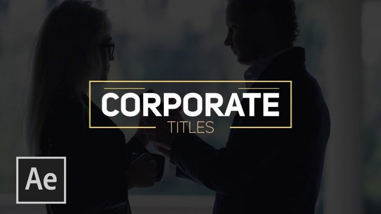 3 Techniques For Clean Corporate Titles in After Effects from SonduckFilm