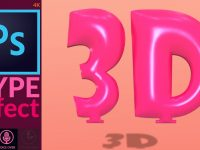 How to Make 3D Balloon Text Effect in Adobe Photoshop from Digital Art Creation