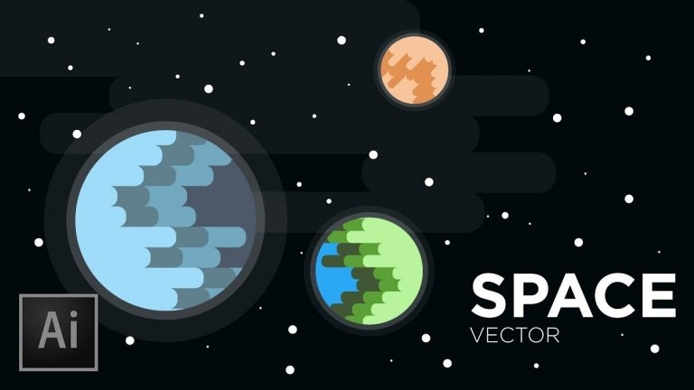 Space & Planets Vector in Illustrator from SonduckFilm