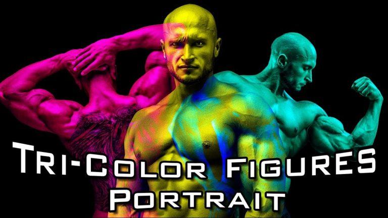 How to Create Overlapping, Tricolor Figure Portraits in Photoshop from Blue Lightning TV