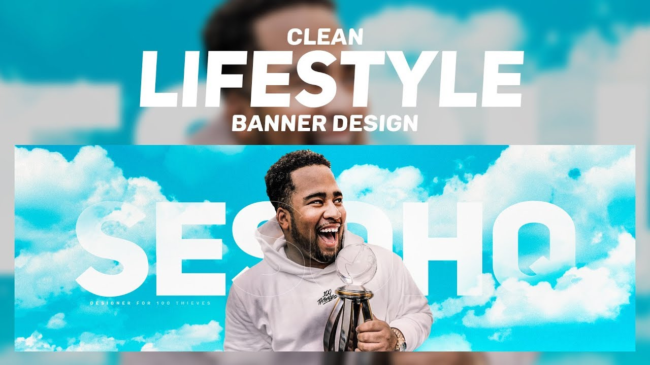 Clean Lifestyle/Sky Banner Design in Photoshop from Seso