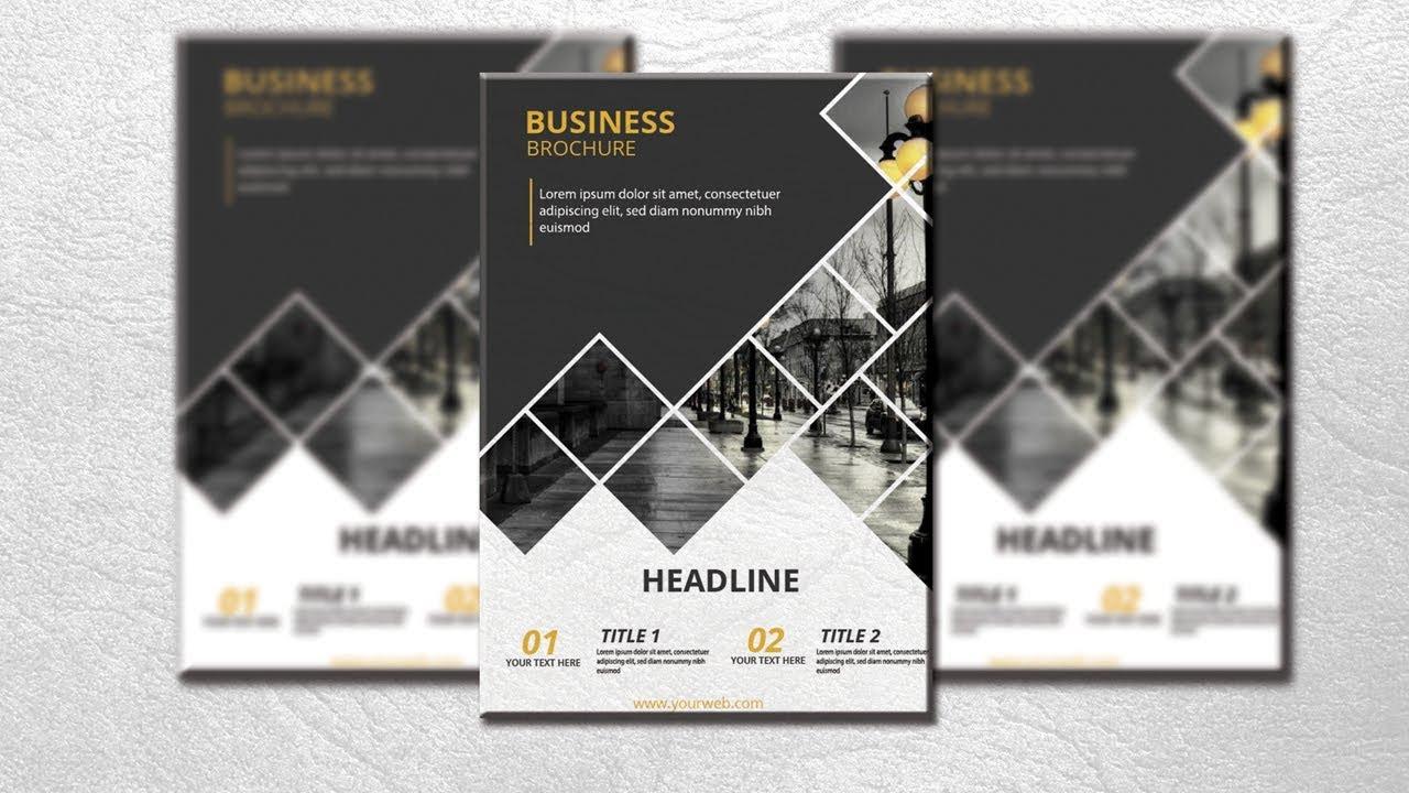 Dark Brochure Design in Illustrator from Graphic Tweakz